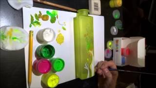 Простые уроки рисования. Рисунок акрилом на стекле. Точечная роспись.  Ксюша Чайковская