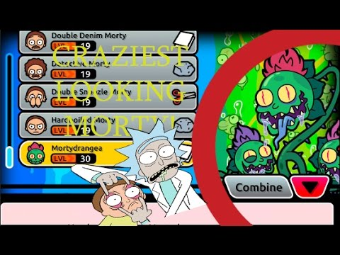 Pocket Mortys - The Craziest Looking Morty! + 6 Combinations!