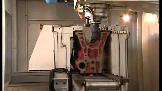 Обробка блоку циліндрів на фрезерному верстаті SV600