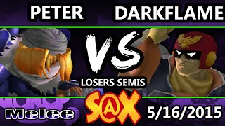 Spring Arcadian - Darkflame (Captain Falcon) Vs. Peter (Sheik) SSBM Losers Semis - Smash Melee