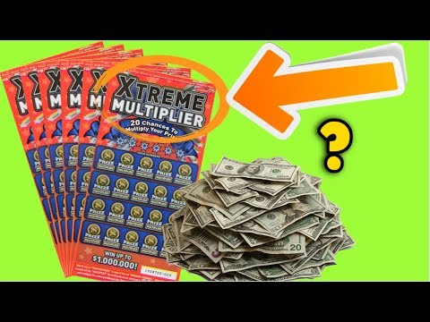 EXTREME MULTIPLIER CALIFORNIA LOTTERY SCRATCH OFF TICKETS 💰