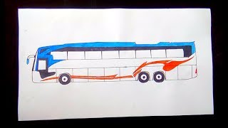 How to draw a bus step by step / drawing tutorial for kids