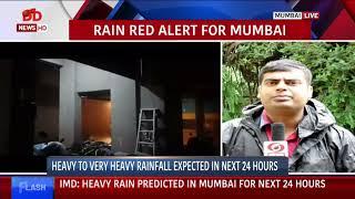 IMD issues red alert in Mumbai predicts heavy rains