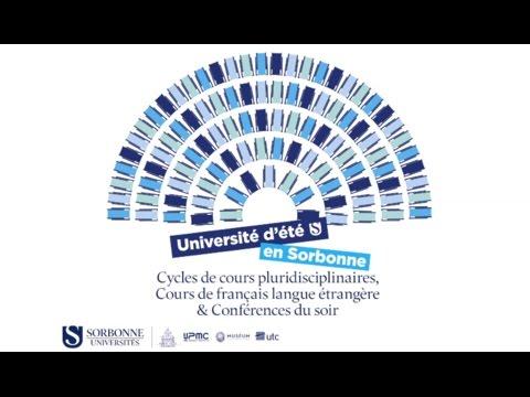 Université d'été en Sorbonne - Conférences 2016