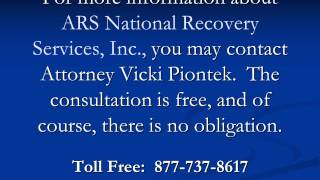 Stop ARS National Recovery Services, Inc.!  Call 877-737-8617 for legal help.