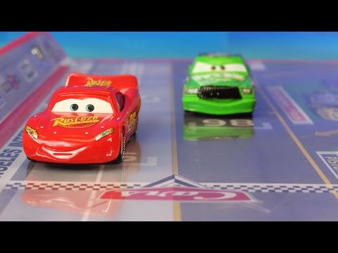Thumbnail: Disney Pixar Cars Track Set With Lightning McQueen Mater & Chick Hicks Takara Tomy