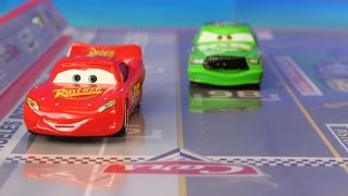 Disney Pixar Cars Track Set With Lightning McQueen Mater & Chick Hicks Takara Tomy