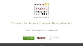 Tutorial 4: So funktioniert Börse wirklich