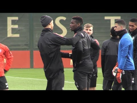 Manchester United Train Ahead Of Champions League Clash With Basel