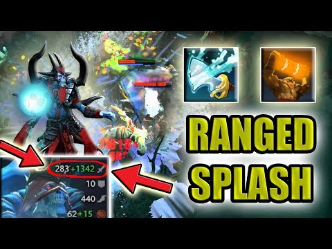 One Hit carry Lich + Splash Damage [1600 Right click] Dota 2 Ability Daft