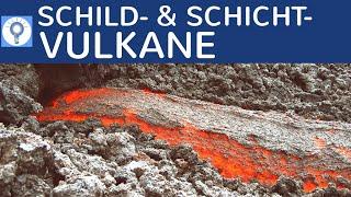 Schildvulkane & Schichtvulkane (Stratovulkane) - Vergleich & Zusammenfassung