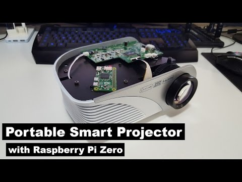 DIY Cheap Portable Smart Projector with Raspberry Pi Zero