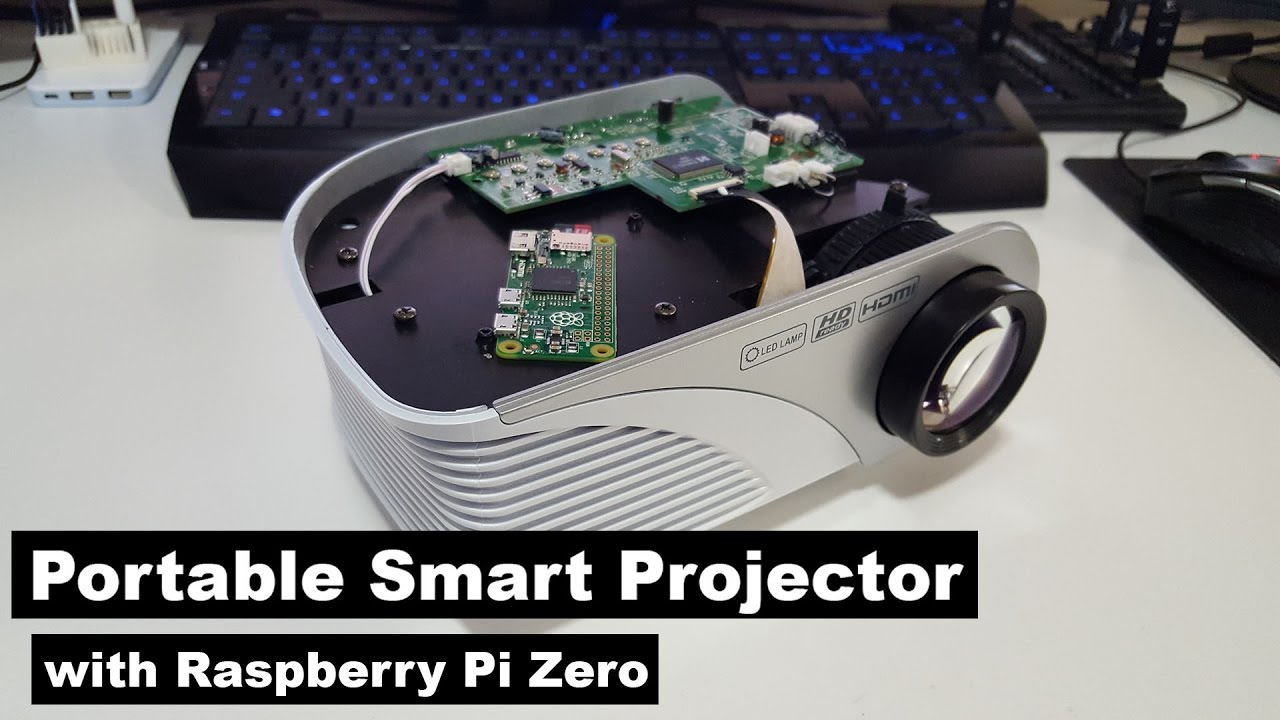 Diy cheap portable smart projector with raspberry pi zero for How to make mobile projector