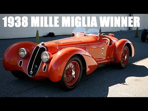 MILLE MIGLIA WINNER Alfa, 1913 MERCER,  D-TYPE Driving at the Simeone Museum- Plus Delahaye 135S