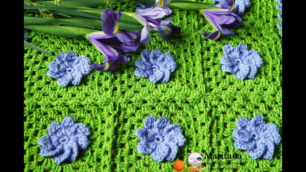 How To Crochet Gerber Daisy Granny Square Blanket Afghan Rug Free Easy Pattern Tutorial