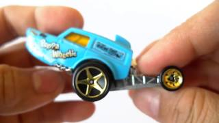 QUICKIE CAR REVIEW new for 2014 HOT WHEELS POPPA WHEELIE in baby blue from P case