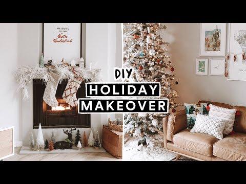 CHRISTMAS APARTMENT MAKEOVER + DIY Christmas Decor + Ornaments ❄️