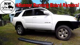 Toyota Running board removal