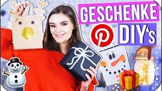 4 DIY's zum GESCHENKE kreativ Einpacken! 🎁 - Pinterest Inspired #DIYnachten🎄 // I'mJette