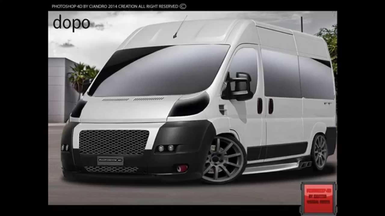 Fiat Ducato 2010 Virtual Tuning Photoshop Cs6 Youtube