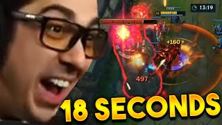 I DESTROYED HIS FIRST TOWER IN 18 SECONDS @Trick2G
