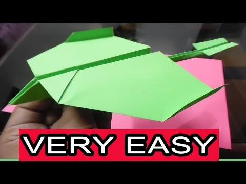 How To Make The Best Paper Airplane In The World | Very Easy| Type 1