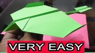 How to make the best paper airplane in the world   Very Easy  Type 1