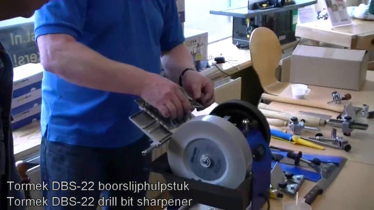 Tormek demonstration of the DBS-22 drill bit sharpener