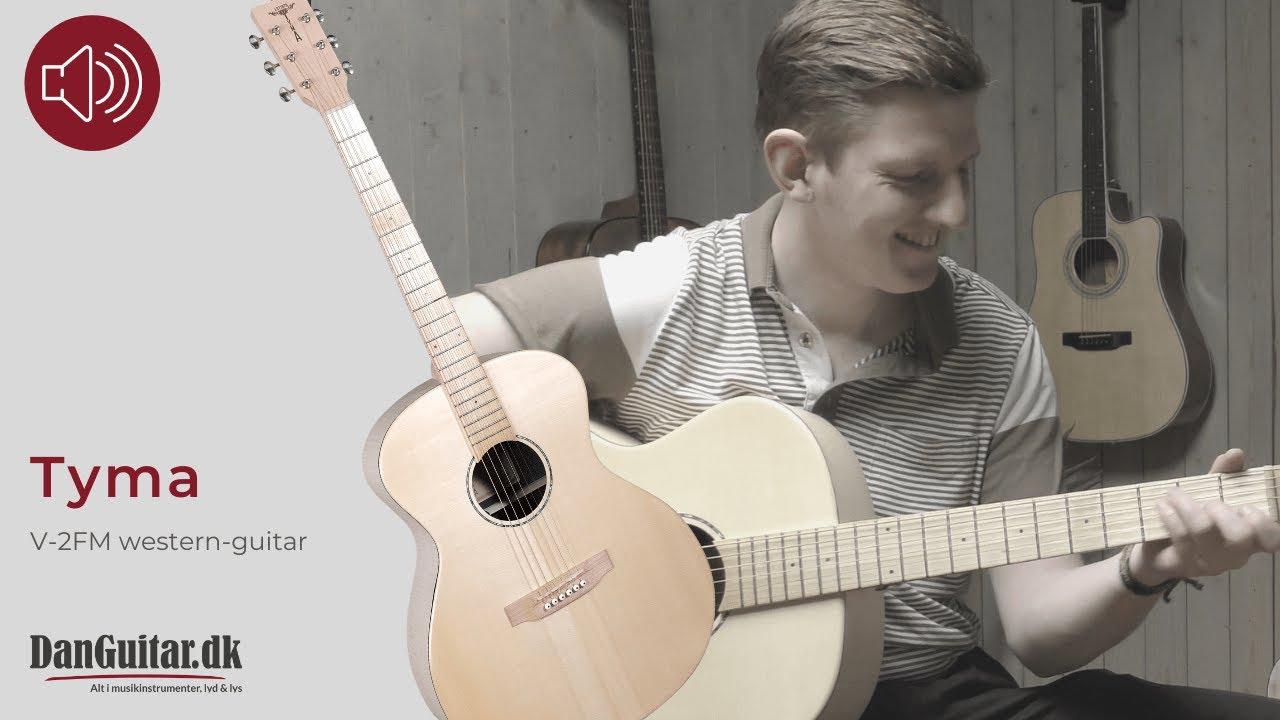 Tyma V-2FM western-guitar - YouTube