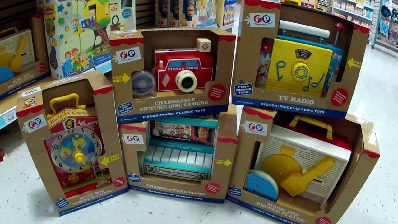 Fisher Price Classic Toys Are Back! Camera, Radio, Clock