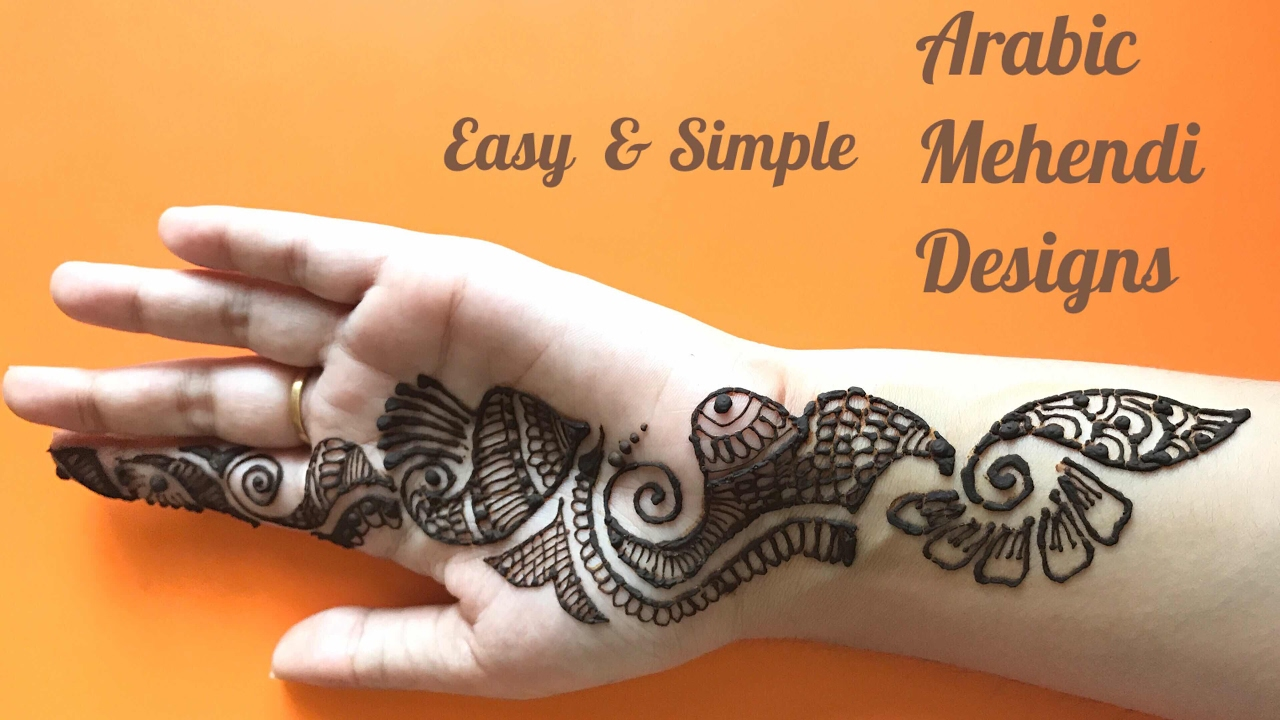 Easy Simple Arabic Henna Mehendi Designs For Hands For Beginners