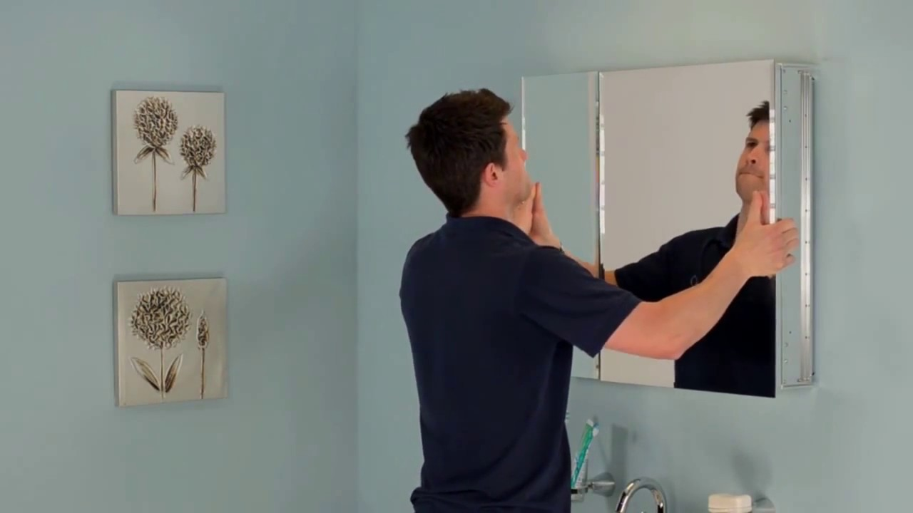 How To Install Jacuzzi Mirrored Medicine Cabinets Youtube