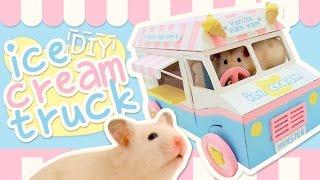 ice cream truck hideout hamster diy