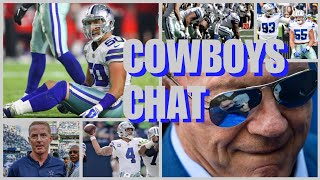 COWBOYS CHAT: Roster Moves; Offense Struggling; Player & Jones's Quotes; Lions Up Next; News & More!