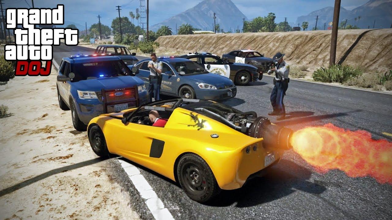GTA 5 Roleplay - DOJ 191 - Rocket Car Racing (Criminal)