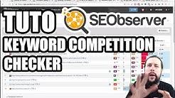 Keyword Competition Checker: étude de difficulté SEO sur un mot-clé