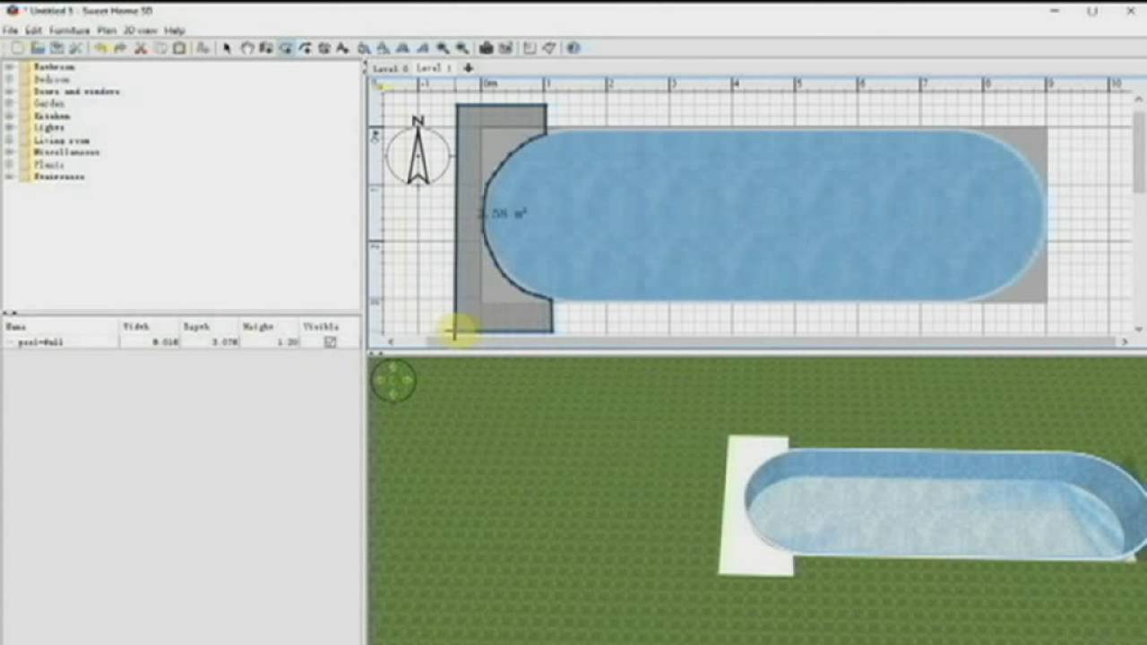 How To Create A Swimming Pool With Sweet Home 3d Swimmingpool Mit Sweet Home 3d Erstellen Youtube