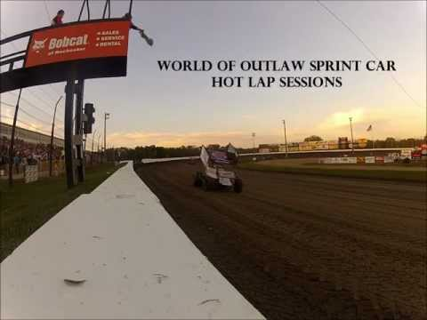 World of Outlaw Sprint Car Hot Laps at Deer Creek Speedway