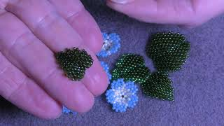 Tutorial: Beaded 3D Leaf. Объемный листочек из бисера в двух техниках плетения.