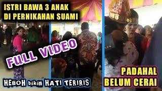 Viral Video Istri Sah bawa 3 Anak di pernikahan Suaminya yg belum cerai, Pernikahan Batak VIRAL