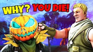 i can ONLY kill HALLOWEEN skins in fortnite... (super sad)