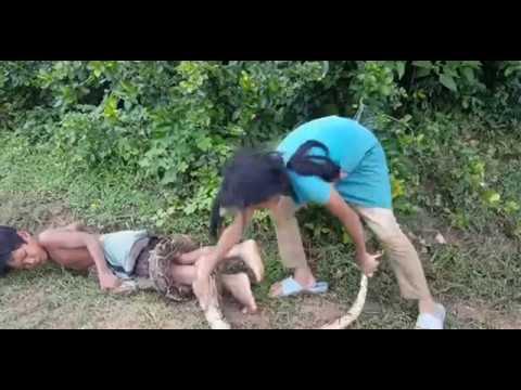 trẻ em mưu sinh bằng nghề bắt rắn