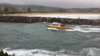 Bermagui harbour near miss