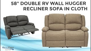 """58"""" Double RV Wall Hugger Recliner Sofa in Cloth"""