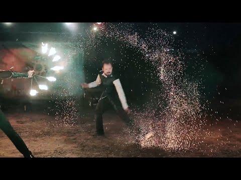 """Огненное шоу """"Путь солнца"""" полное выступление на свадьбе в Вязниках"""