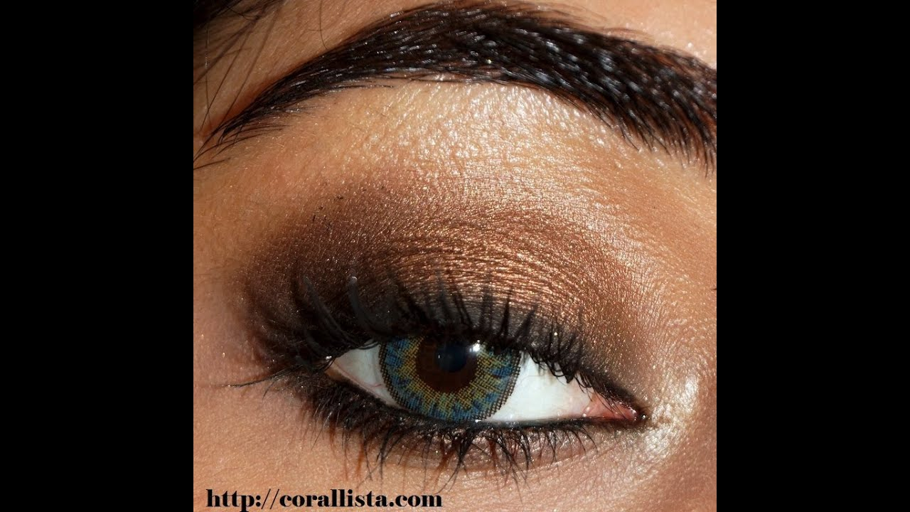 Bronze Smokey Eye Makeup Tutorial | corallista