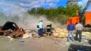 Gambar cover пожар бывших павильонов у горадминистрации