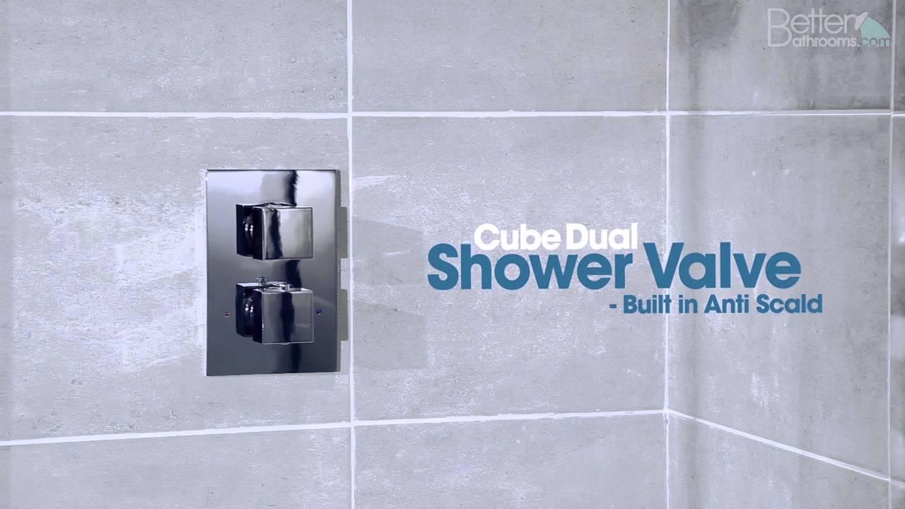 Cube Dual Shower Valve with Quadrato Head & Arm - YouTube