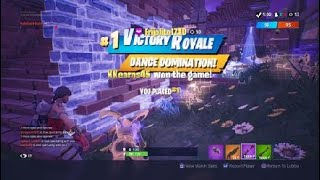 AMAZING ENDING!!! Fortnite battle Royale VICTORY ROYALE in Disco domination.