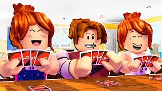 ROBLOX-WHO PLAYS BEST AT UNO? (Roblox Uno)
